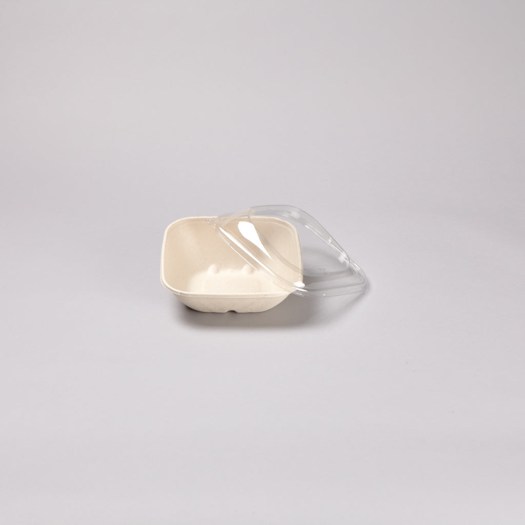 Square clear lid RPET lids to fit 750ML BePulp Container