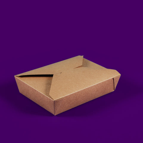 #2 Kraft Compostable Hot Food Boxes