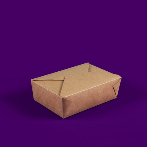 #3 Kraft Compostable Hot Food Boxes