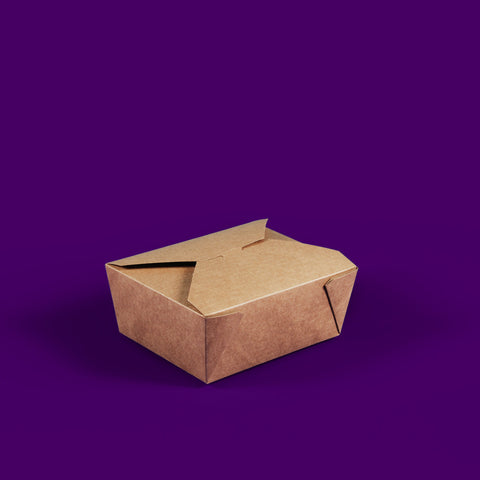 #8 Kraft Compostable Hot Food Boxes