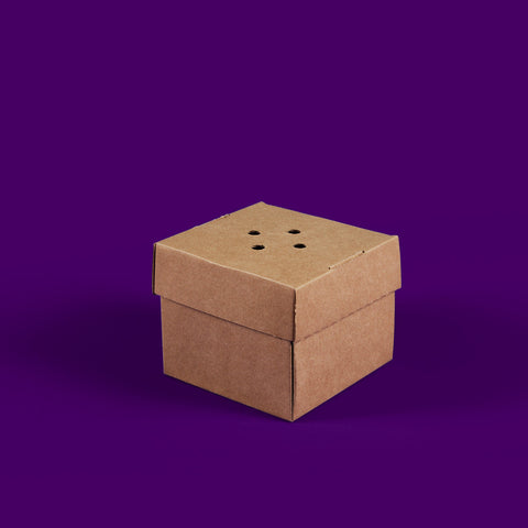 Plain premium burger box - corrugated cardboard