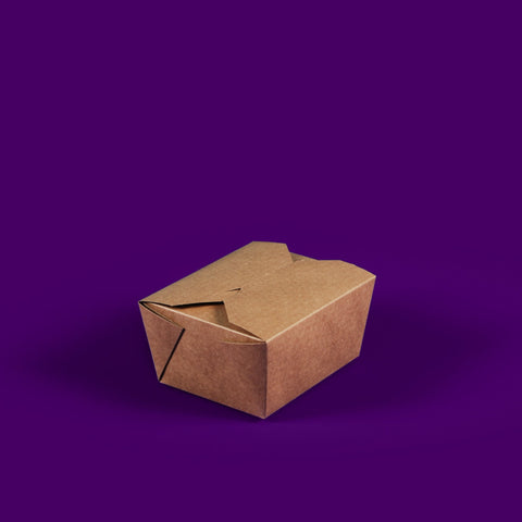 #1 Kraft Compostable Hot Food Boxes 800ML