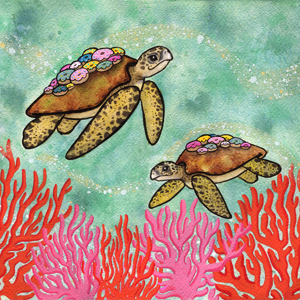 Sea Turtles with Donut Barnacles