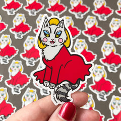 Divine Cat Vinyl Sticker