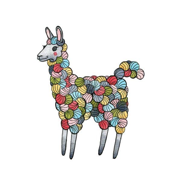 Colorful Yarn Llama