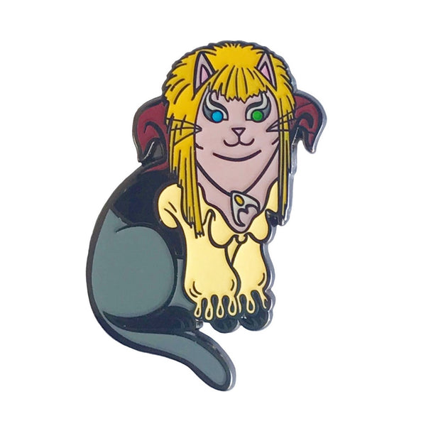Goblin King Cat Enamel Pin