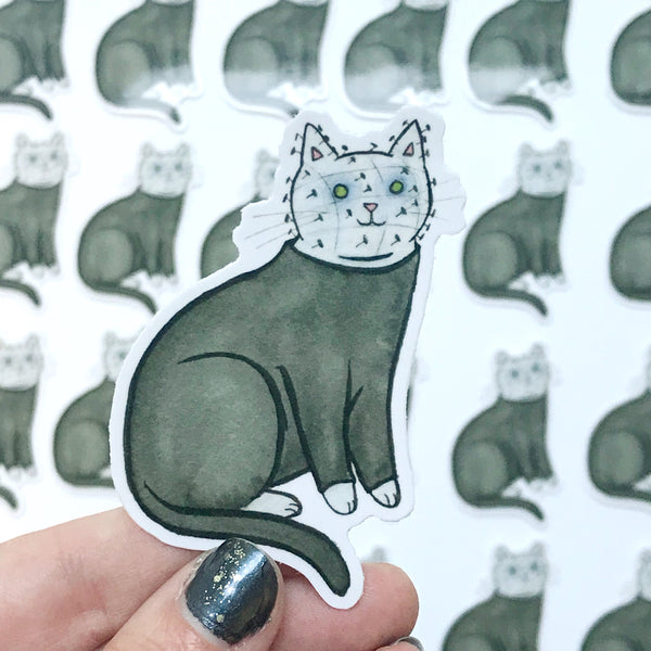 Pinhead Cat Vinyl Sticker
