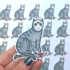 Camp Killer Cat Vinyl Sticker
