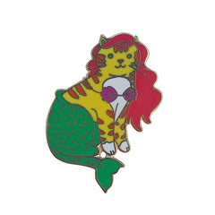 Mermaid Cat hard enamel pin SALE
