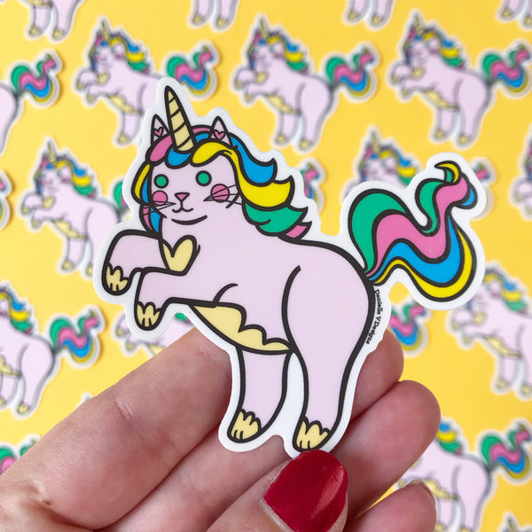 Unicorn Cat Vinyl Sticker