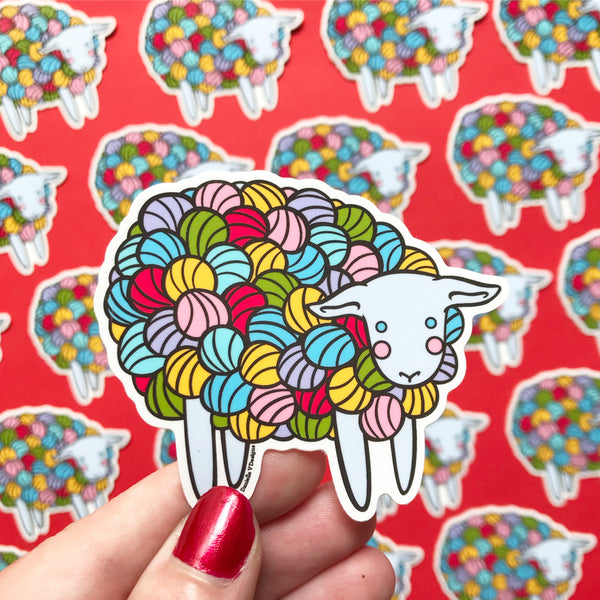 Yarn Sheep Vinyl Sticker