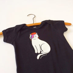 David Bowie Cat Baby One Piece