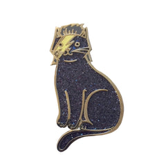 Black Glitter Bowie Cat enamel pin SALE