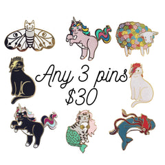 ANY 3 Pins for $30