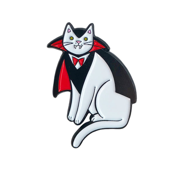 Vampire Cat Enamel Pin