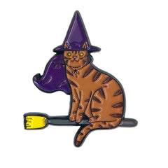 Witch Cat Enamel Pin