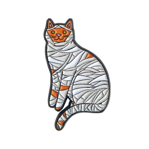 Mummy Cat Enamel Pin