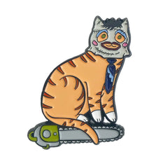 Chainsaw Cat Enamel Pin