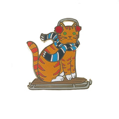 Sled Cat enamel pin SALE