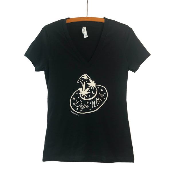 Dope Witch V Neck Tee