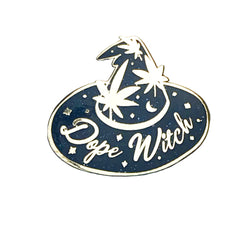 Dope Witch Enamel Pin Black Glitter