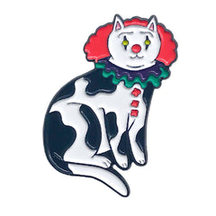 Pennywise the Clown Cat Enamel Pin