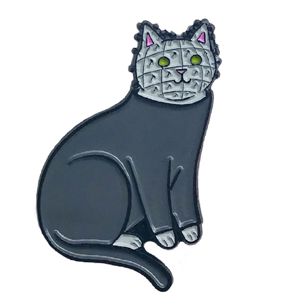 Pinhead Cat Enamel Pin
