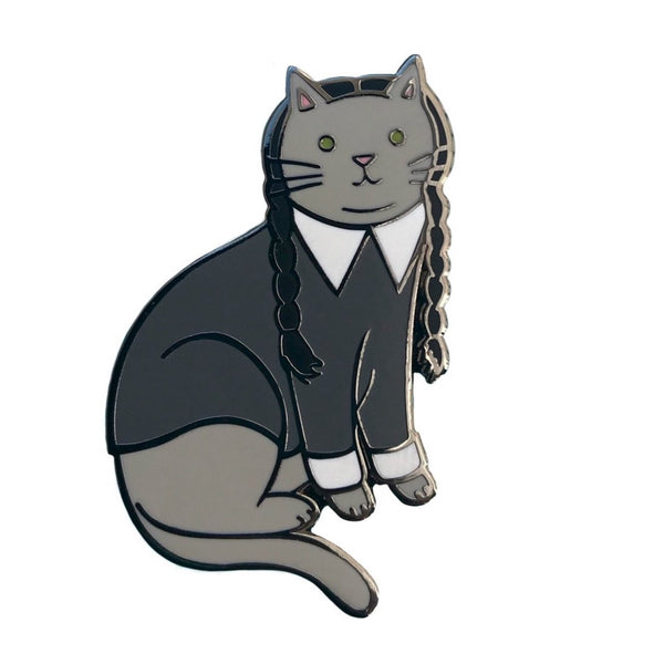 Goth Cat Hard Enamel Pin