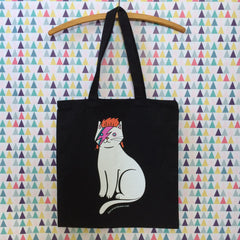David Bowie Cat Tote Bag