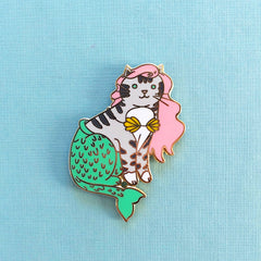 Mermaid Cat Pin Pinky