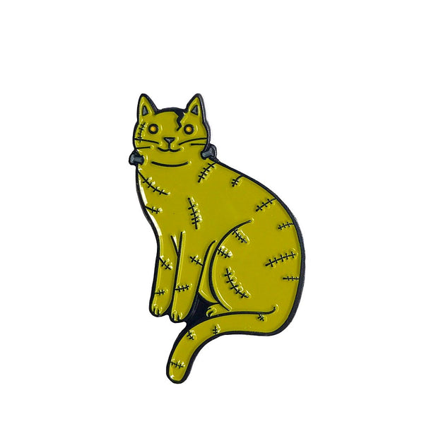 Frankenstein Cat Enamel Pin