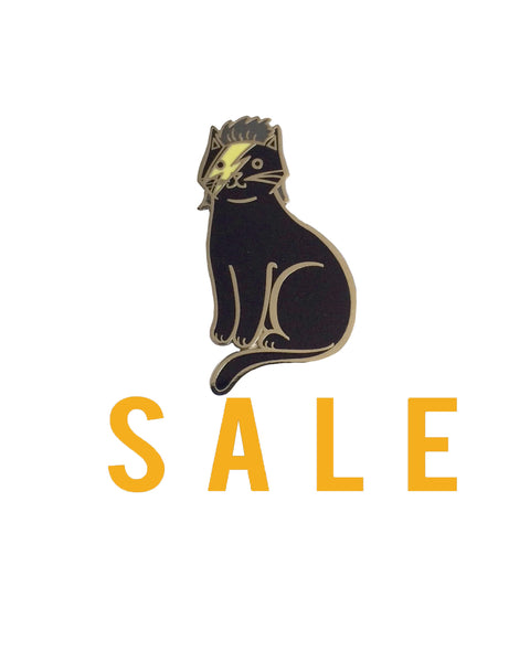 Blackstar Bowie Cat enamel pin SALE
