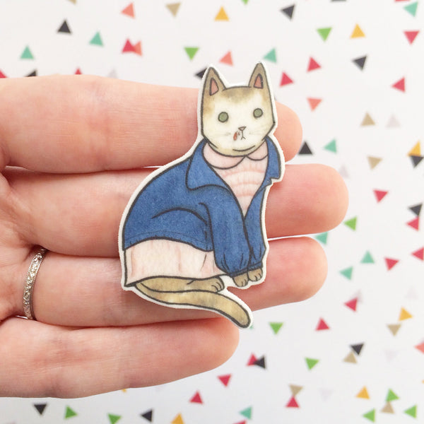 11 Cat Brooch