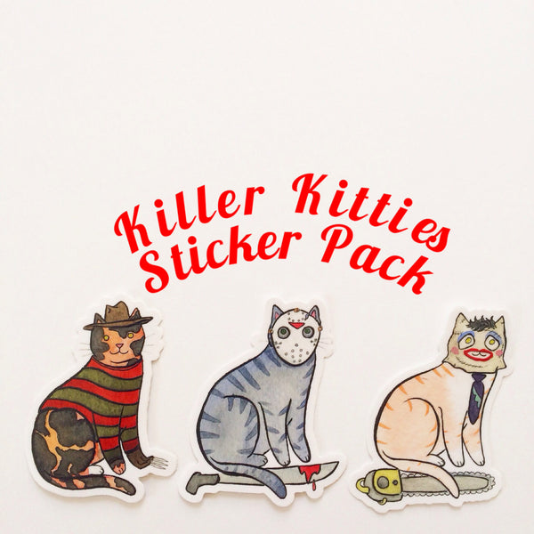 Killer Kitties Stickers 3 Pack