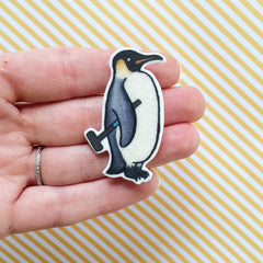 Penguin Brooch - Emperor Penguin Pin - Croquet  jewelry-Unique Boutonnière