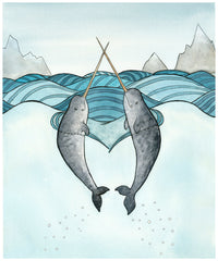 Love Narwhals Card
