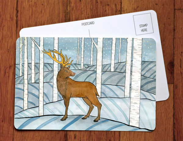 Winter Reindeer Card