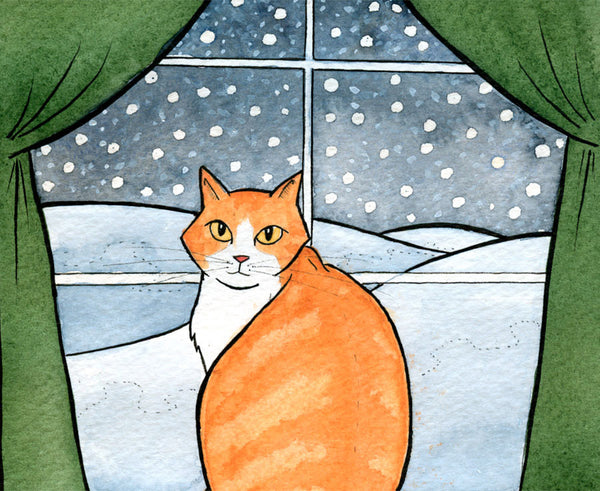 Winter Cat Art Print