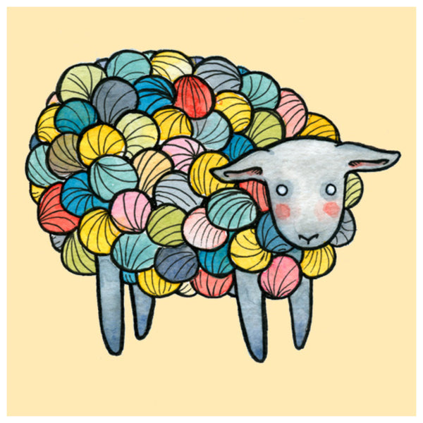 Colorful Yarn Sheep