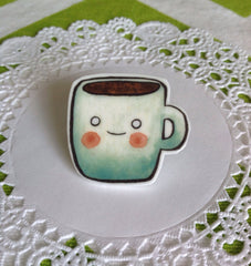 Coffee Brooch