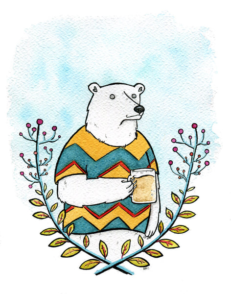 Polar Bear and Frosty Beer