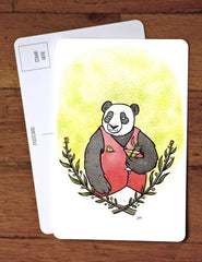 Panda Bear and Martini Card