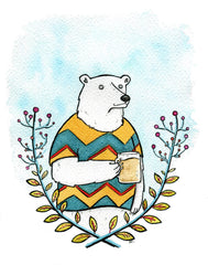 Polar Bear and Beer Card