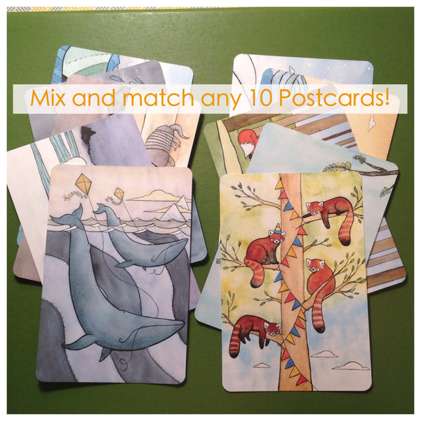 Postcard set - Mix and match any 10 Postcards  4x6