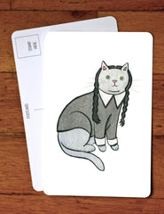 Wednesday Addams Cat