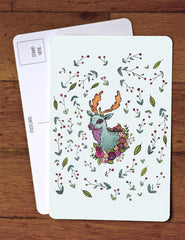 Deer Berries Art Card