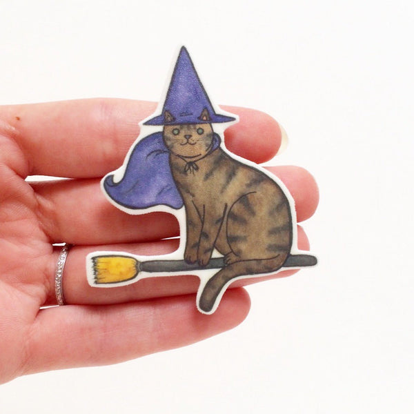 Witch Cat Brooch