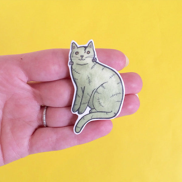 Frankenstein Cat Brooch