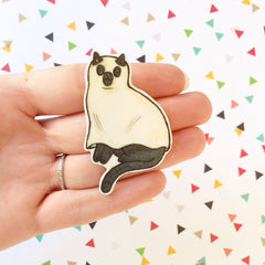 Ghost Cat Brooch