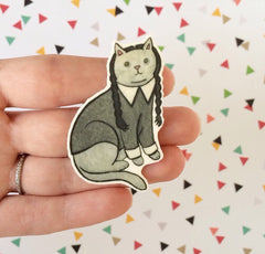 Goth Cat Brooch